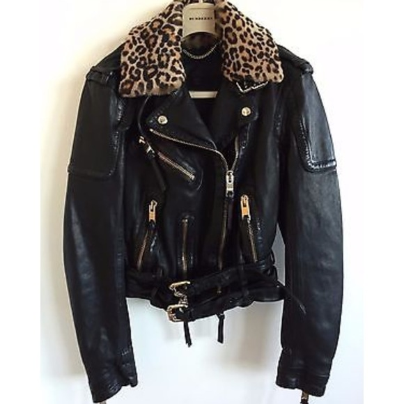 cadb3f0adcb Burberry Jackets & Coats | Prorsum Womens Leather Biker Jacket ...